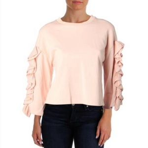 NWT JOA Ruffled Trim Sweatshirt